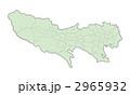 東京都地図(色付) 2965932