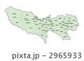 東京都地図(色付・地名有) 2965933