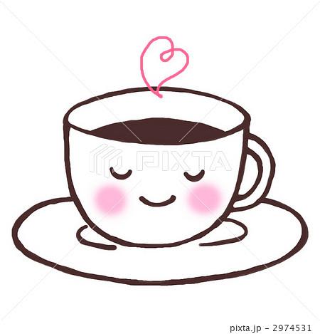 ホットコーヒーのイラスト素材 2974531 Pixta