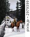 馬と雪と蒸気機関車 2979399