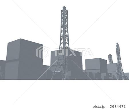 福島第一原発シーン6原子炉建屋全景のイラスト素材 2984471 Pixta