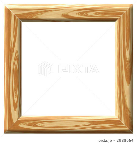 木枠 写真立て フレームのイラスト素材 2988664 Pixta