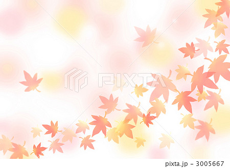 紅葉柄背景のイラスト素材 3005667 Pixta