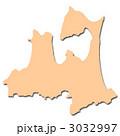 白地図 地図 青森県のイラスト 3032997