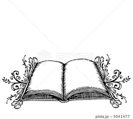 書物 書籍 本のイラスト素材 3041477 Pixta