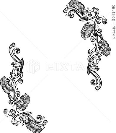 ドローイング 囲み デコのイラスト素材 3041490 Pixta