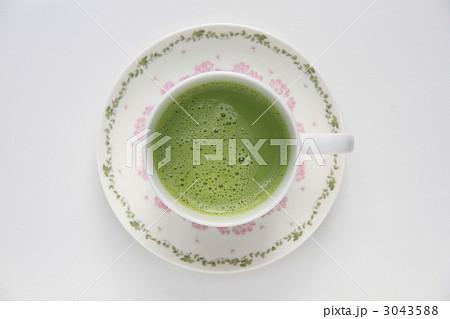 抹茶ラテ真上からの写真素材 [3043588] - PIXTA