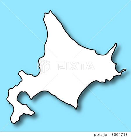 北海道の白地図のイラスト素材 ...