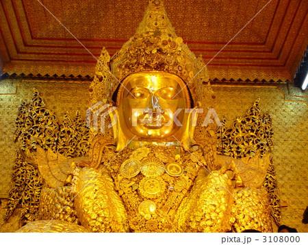 マハムニパゴダの「黄金の大仏」(マンダレー/ミャンマー) 3108000