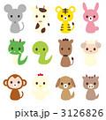 干支 十二支 動物のイラスト 3126826