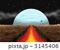 マグマ クレバス 惑星のイラスト 3145406