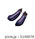 ナスビ なすび 茄子のイラスト 3146676