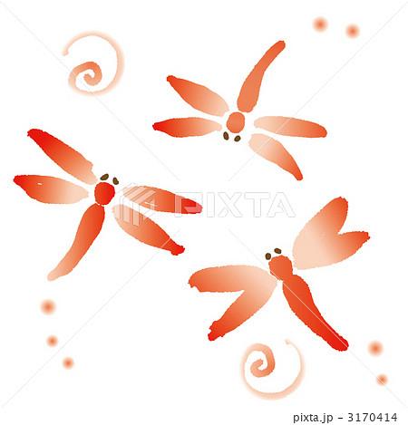 赤とんぼのイラスト素材 3170414 Pixta