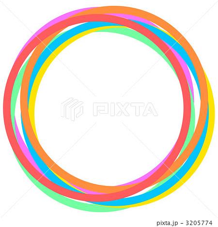 カラフルな輪のイラスト素材 [32...