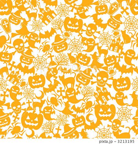 ハロウィン オレンジ 背景 壁紙 パターンのイラスト素材 3213195 Pixta