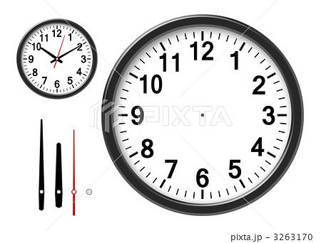 時計のイラスト素材 [3263170 ... : 時計文字盤 イラスト 無料 : イラスト