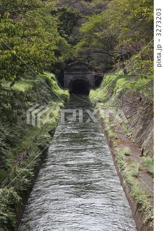 琵琶湖疏水・第1疏水第1トンネル東口 伊藤博文「気象万千」の文字 3273203