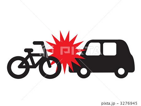自転車の 自転車の事故 : 事故自転車1のイラスト素材 ...