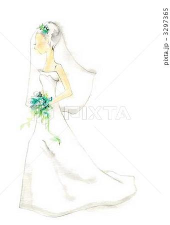 ウェディングドレスのイラスト素材 [3297365] , PIXTA