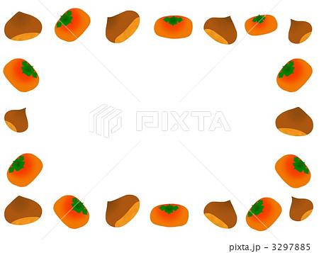 秋の味覚フレームのイラスト ...