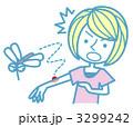 虫刺され 蚊 女性のイラスト 3299242