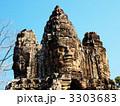 アンコール・トム 遺跡 石像の写真 3303683