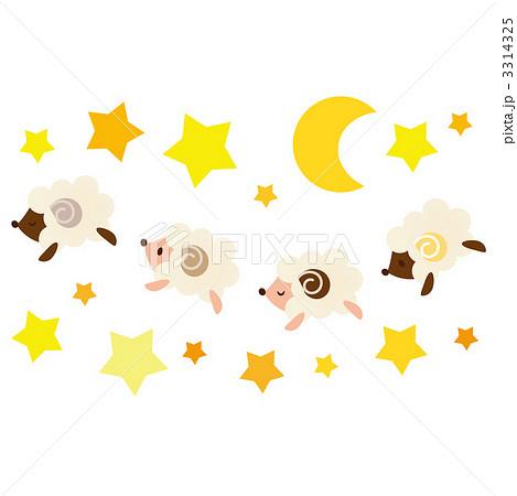 ひつじ 睡眠 のイラスト素材 ... : 羊 可愛い イラスト : イラスト