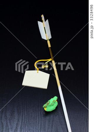 正月 辰の置物と魔除け開運の破魔矢と絵馬 3328496