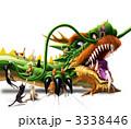 ドラゴン 辰 猫のイラスト 3338446