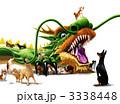 辰 ドラゴン 犬のイラスト 3338448
