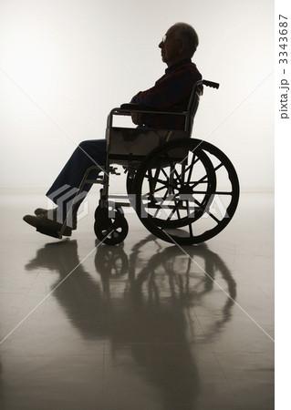 Man in wheelchair.の写真素材 [3343687] - PIXTA