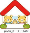 住まい 熊 一軒家のイラスト 3381488