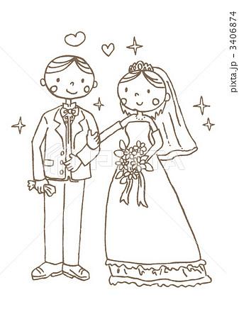 結婚式のイラスト素材 3406874 Pixta