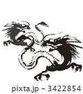墨絵 干支 辰のイラスト 3422854