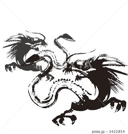 墨絵の龍 3422854
