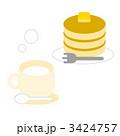 おやつ ホットケーキ 間食のイラスト 3424757