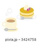 軽食 パンケーキ ホットケーキのイラスト 3424758