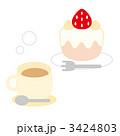 ショートケーキ イチゴショートケーキ イチゴケーキのイラスト 3424803