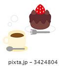 チョコケーキ おやつ チョコレートケーキのイラスト 3424804
