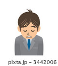 ビジネスマン A 風邪 疲労 3442006