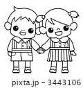 ベクター 園児 女の子のイラスト 3443106