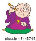 おじいちゃん 正座 噺のイラスト 3443745