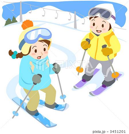 スキーのイラスト素材 3451201 Pixta
