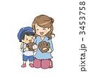 野球 家族 母親のイラスト 3453758