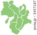 県境 マップ 近畿地方のイラスト 3457187