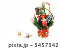 松飾りと折り鶴 3457342