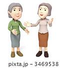 人物 女性 シニアのイラスト 3469538