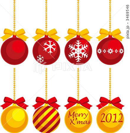 オーナメント 飾り クリスマスのイラスト素材 3469546 Pixta