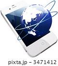 スマートフォン スマホ ネットワークのイラスト 3471412