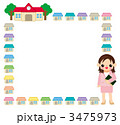 家庭訪問の飾り枠 3475973